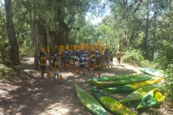 English Summer Camp Canoes
