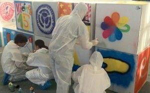 team building: Graffiti workshop