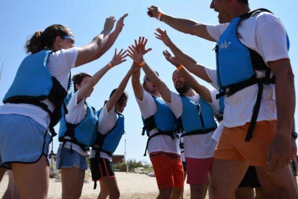 Beach activities_amfivia_teambuilding_amfivia_outdoor_event_barcelona