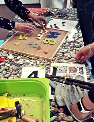 Amfivia trencadis team building activity Barcelona (4)